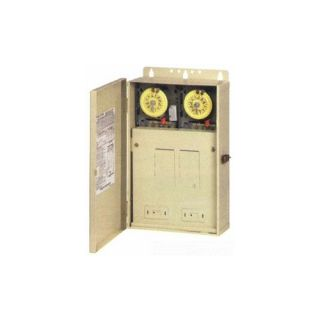 Intermatic T30401R 100A Pool/Spa/Light Control Panel with a 120V SPST Timer amp; One 240V DPST Timer