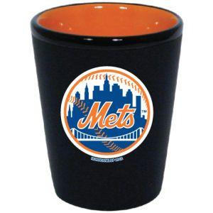 New York Mets 2 Tone Ceramic Collectors Glass