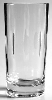 Unknown Crystal Daphne Highball Glass   Clear,Gray Cut Ovals&Vertical Lines