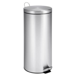 Honey Can Do 30 Litre Stainless Steel Step Trash Can   Silver