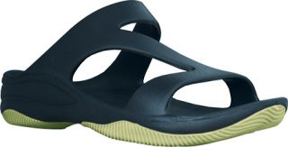 Womens Dawgs Z Sandal/Rubber Sole   Navy/Lime Green Casual Shoes