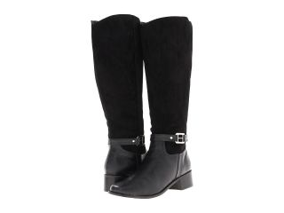 Annie Motive Wide Shaft Womens Zip Boots (Black)