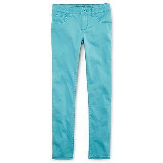 Arizona Colored Twill Skinny Jeans   Girls 6 16, Slim & Plus, Blue, Girls
