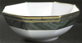 Christian Dior Gaudron Malachite Green 9 Octagonal Vegetable Bowl, Fine China D