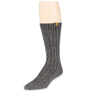 Eddie Bauer Classic Rag Boot Socks, Black, Mens