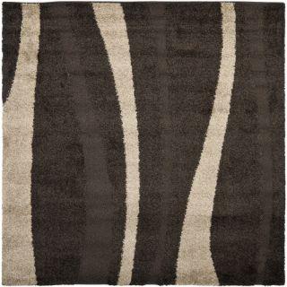 Safavieh Florida Shag Dark Brown/Beige Rug SG451 2813 Rug Size: Square 67