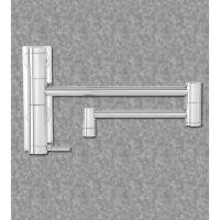 Waterstone 3200-06 Hunley Wall Mount Single Handle Pot Filler Faucet Black