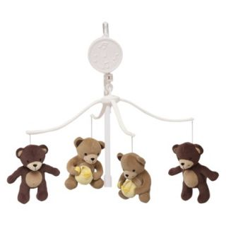 Green, yellow brown Honey Bear Musical Mobile