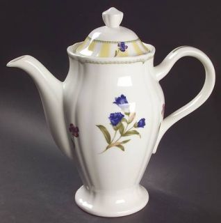 Noritake Summer Estate (Korea) Tea/Coffee Pot & Lid, Fine China Dinnerware   Yel
