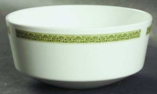 Corning Lynwood Green Coupe Soup Bowl, Fine China Dinnerware   Centura, Green Fl