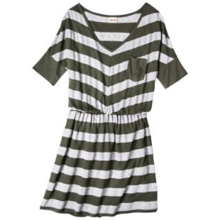 Mossimo Supply Co. Juniors V Neck Elbow Sleeve Dress   Olive S(3 5)