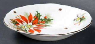 Royalty China Noel Fruit/Dessert (Sauce) Bowl, Fine China Dinnerware   Holly & P