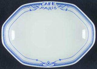 Bernardaud Cafe Paris Blue Relish, Fine China Dinnerware   Residence,Blue Decor