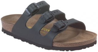 Womens Birkenstock Florida Leather   Black Leather Casual Shoes