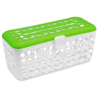 Born Free Quick Load Dishwasher Basket (Green/ whiteDimensions: 9.1 inches long x 4.6 inches wide x 4.4 inches highAmount held: Holds six bottles and componentsCare Instruction: Wash with soap and water. Top rack dishwasher safe. )