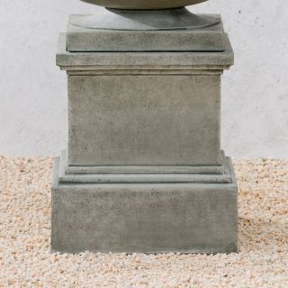 Campania International Glenview Cast Stone Pedestal For Urns and Statues Verde