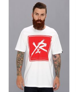 Young & Reckless Box Logo Fill Tee Mens Short Sleeve Pullover (White)