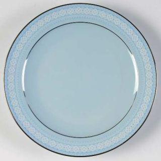 Noritake Wedding Veil Bread & Butter Plate, Fine China Dinnerware   Blue & White