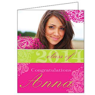 Trendy Graduation Swirls Giant Greeting Cards