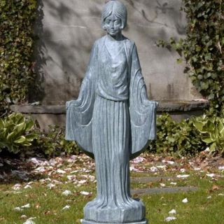 Campania International Art Deco Maiden Cast Stone Garden Statue   S 272 AL