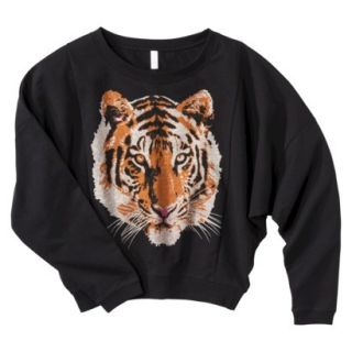 Xhilaration Juniors Daisy Cropped Sweater   Black S(3 5)