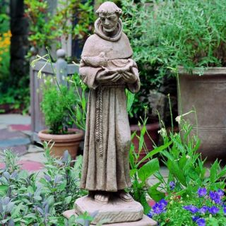 Campania International St Francis with Shell Garden Statue   R 024 GS