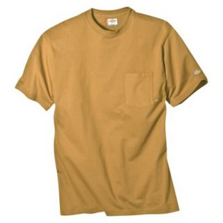 Dickies Mens Short Sleeve Pocket T Shirt with Wicking   Brown Duck XL T