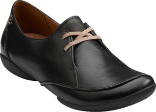 Womens Clarks Felicia Vale   Black Leather Casual Shoes