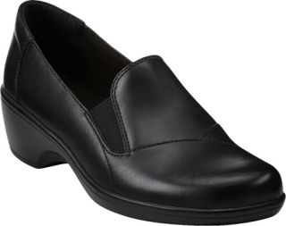 Womens Clarks May Ivy   Black Leather Casual Shoes