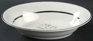 Royal Jackson Allegro 10 Oval Vegetable Bowl, Fine China Dinnerware   Gray Flow