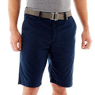 Lee Belted Flat Front Shorts, Eclipse, Mens