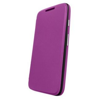 Motorola Flip Shell for Moto G Cell Phone Case   Purple (ASMFLPCVVI)