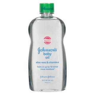 Johnsons Baby Oil Aloe Vera and Vitamin E   20.0 oz.