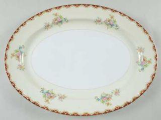 Royal Embassy Rutland (Smooth Verge, Japan) 16 Oval Serving Platter, Fine China