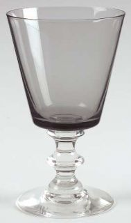 Morgantown Mor4 Smoke Water Goblet   Smoke Bowl, Clear Wafer Stem