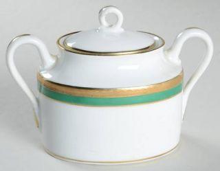 Richard Ginori Palermo Green Sugar Bowl & Lid, Fine China Dinnerware   Impero,1/