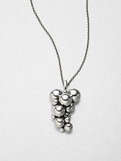 Georg Jensen Sterling Silver Grape Necklace   Silver