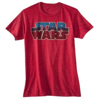 Star Wars Logo Mens Graphic Tee   Red L