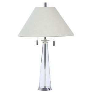 House of Troy HOU M552 PS Marquis Polished Silver and Round Tapered Crystal Tabl