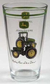 Gibson Designs John Deere (Tractor) 12 Oz Glassware Tumbler, Fine China Dinnerwa