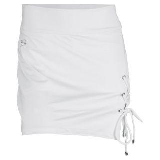 Doue Women`s Cord Tennis Skort White Small White