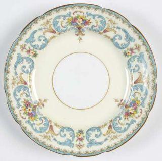 Paragon Queen Anne Bread & Butter Plate, Fine China Dinnerware   Blue Scrolls, F