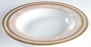 Christian Dior Gaudron Marbre Rose Large Rim Soup Bowl, Fine China Dinnerware