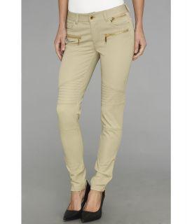 MICHAEL Michael Kors Stretch Moto Pant Womens Casual Pants (Khaki)