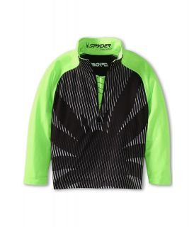 Spyder Kids Boys Bugcentric   Dry W.E.B. T Neck F13 Boys Long Sleeve Pullover (Black)