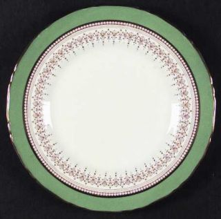 Royal Worcester Regency Green & Brown (Older) Salad Plate, Fine China Dinnerware