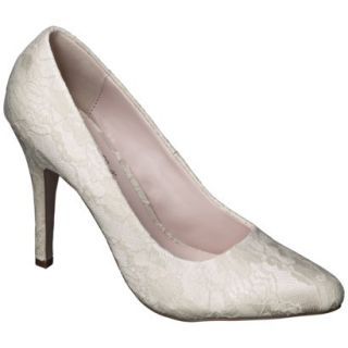 Womens De Blossom Selma Womens Lace High Heel Pump   Nude 7.5
