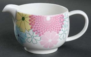 Portmeirion Crazy Daisy Creamer, Fine China Dinnerware   Large Abstract Flowers,