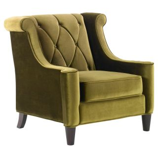 Armen Living Barrister Chair   Green Velvet   LC8441GREEN