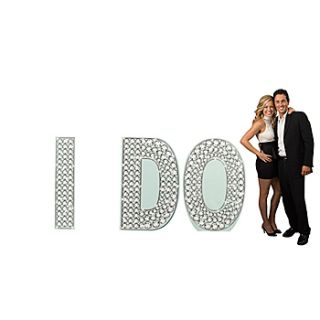 I Do Wedding Diamond Letter Set